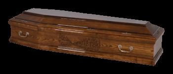 ciemne drewno trumna