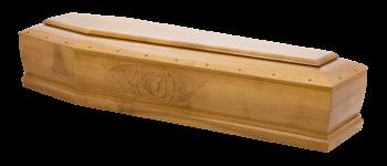 jasna drewniana trumna