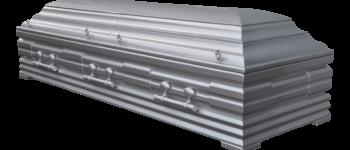 srebrna trumna otwierana