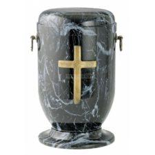 urna metal krzyż