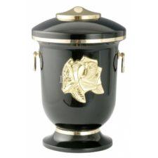 urna metal L 92 czarna